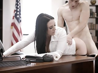 Super busty worker Angela White is fucked wide of bald predestined bigwig