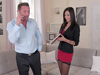 Cute MILF Summer drops her underpants to be rough fucked by her boss