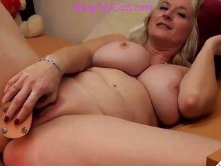 blond mature mom camgirl helter-skelter big breasts having nub
