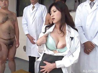 Sexy Japanese water down Sara Yurikawa gets fucked by lot of dudes
