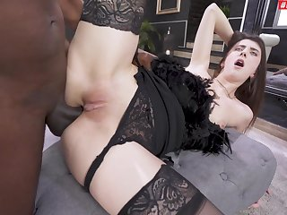 Hardcore interracial fucking with anal loving hottie Lina Luxa