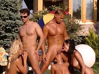 Sex Orgy sex on country villa - Michelle wild retro