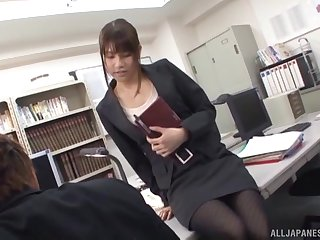 Natural boobs Ai Nikaidou gives head and gets fucked from behind