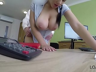 LOAN4K. Girl pays with anal sex to get her financial problem permanent