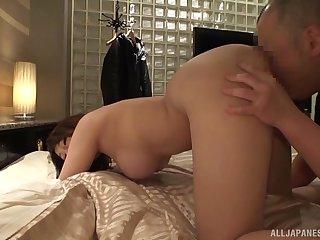 Hot Japanese comprehensive Kirishima Sakura enjoys her time in a tourist house room