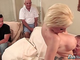 Blonde MILF tie the knot big cock anal creampie