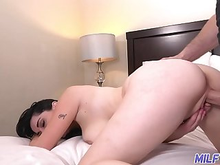 MILF Trip - Screen brunette MILF rides obese cock - Part 2