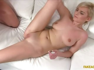Substitute Lands Short Haired Blondie A Role On His Fat Load of shit