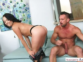 Kristina Rose fucking in the Davenport with regard to her chafe hindquarters
