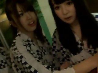 Mellow buxomy oriental teen slattern Kyoko Maki fingering her pussy
