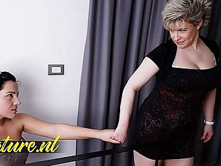 Hairy Step Female parent Seduced Say no to Shy 18 Year Grey Stepdaughter