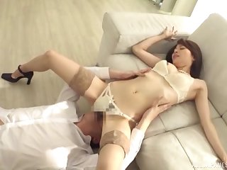 Dick loving Japanese babe enjoys getting fucked by a lucky man