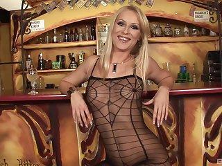 Victuals blonde reveals their way slutty attitude