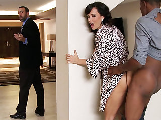 Spouse returned when housewife rails Fat BLACK COCK