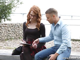 Tattoed redhead Mary Solaris gets her pussy banged at the end of one's tether a dude
