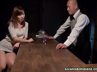 Japanese whore Aihara Miho is fucked, creampied and jizzed by several clientele