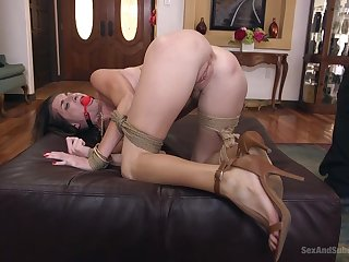 BDSM with the addition of a slave role are the favorite games for Silvia Saige