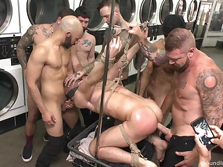 Gay orgy at the laundromat set to end everywhere a burgeon
