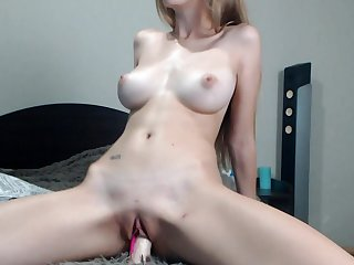 Amazing naked lassie with perfect big tits - webcam video