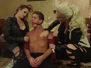 Dominant Bella Rossi adores pangs and a BDSM threesome with friends