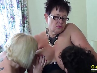 Two white hot lesbians playing with sex toys plus with each other