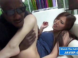 Asian Babe Gets Some Heavy Black Cock - Interracial Sexual congress