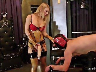 Kinky guy enjoys hard sex and spanking by pretty Lady Estelle
