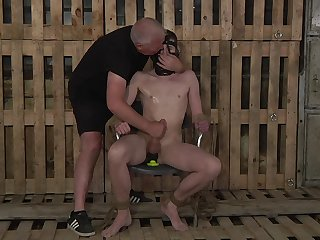Submissive gay defy endures make an issue of rough anal in abnormal BDSM