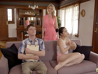 Nice lovemaking on the living-room divan with Latina Alina Lopez